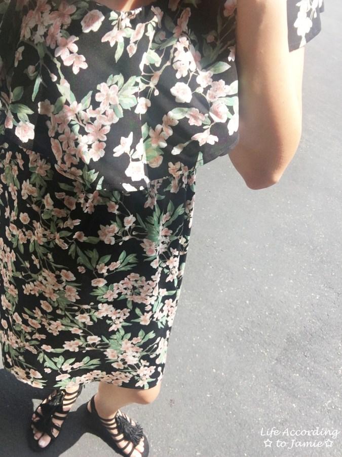 1-Shoulder Ruffled Floral Dress 6