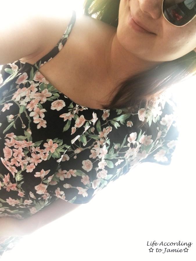 1-Shoulder Ruffled Floral Dress 7
