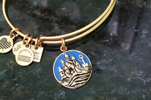 Alex & Ani - Sand Castle Charm Bangle
