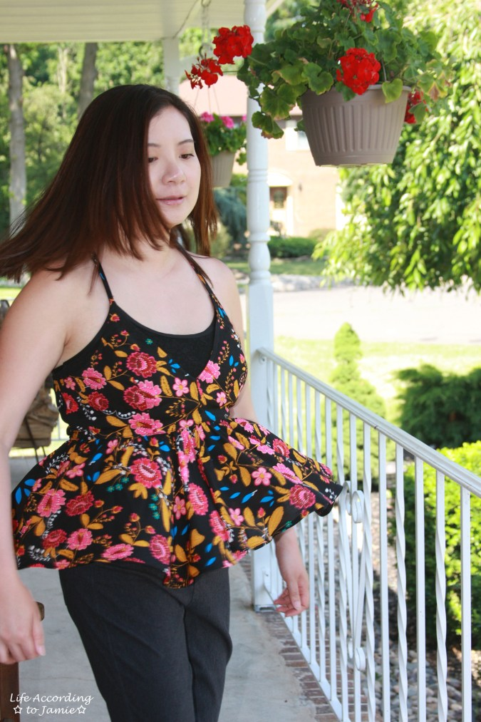 Floral Babydoll Cami + Lace Bodysuit 11