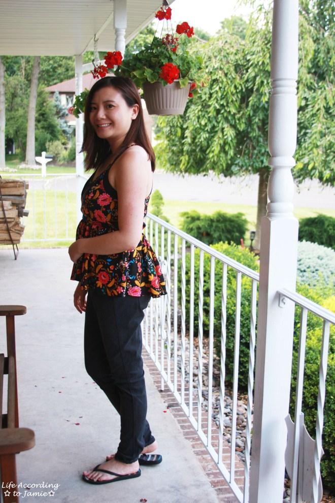 Floral Babydoll Cami + Lace Bodysuit 6
