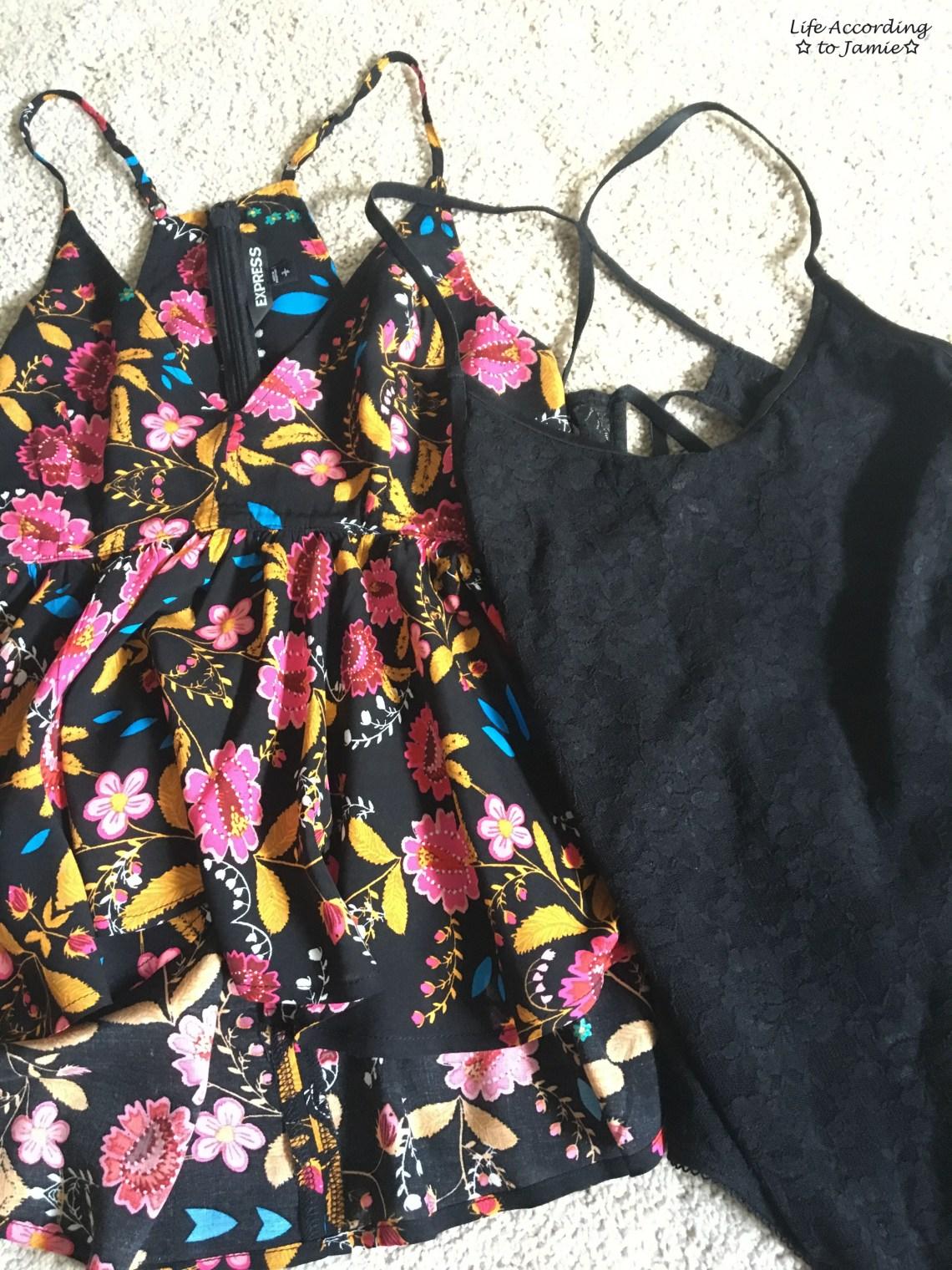 Floral Babydoll Cami + Lace Bodysuit