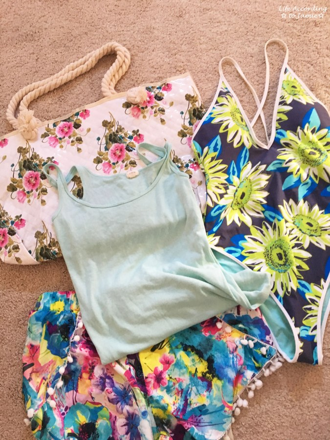 Floral Deep V One-Piece Swimsuit