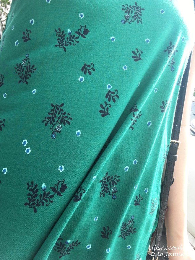 Green Floral Pleated Top 2
