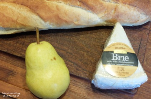 Pear + Brie Snack