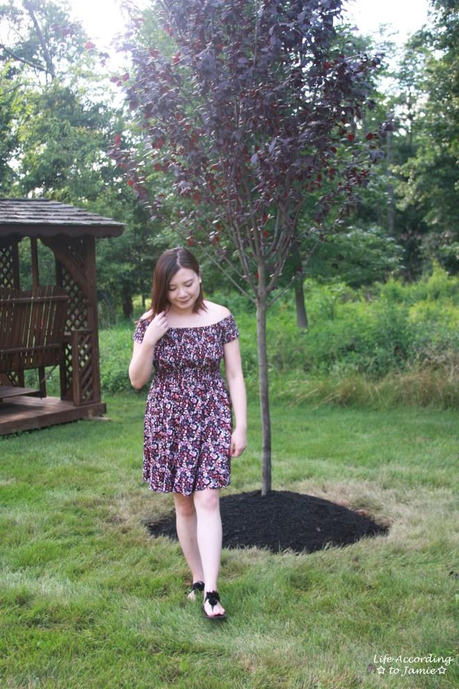 Smocked Floral OTS Dress 4