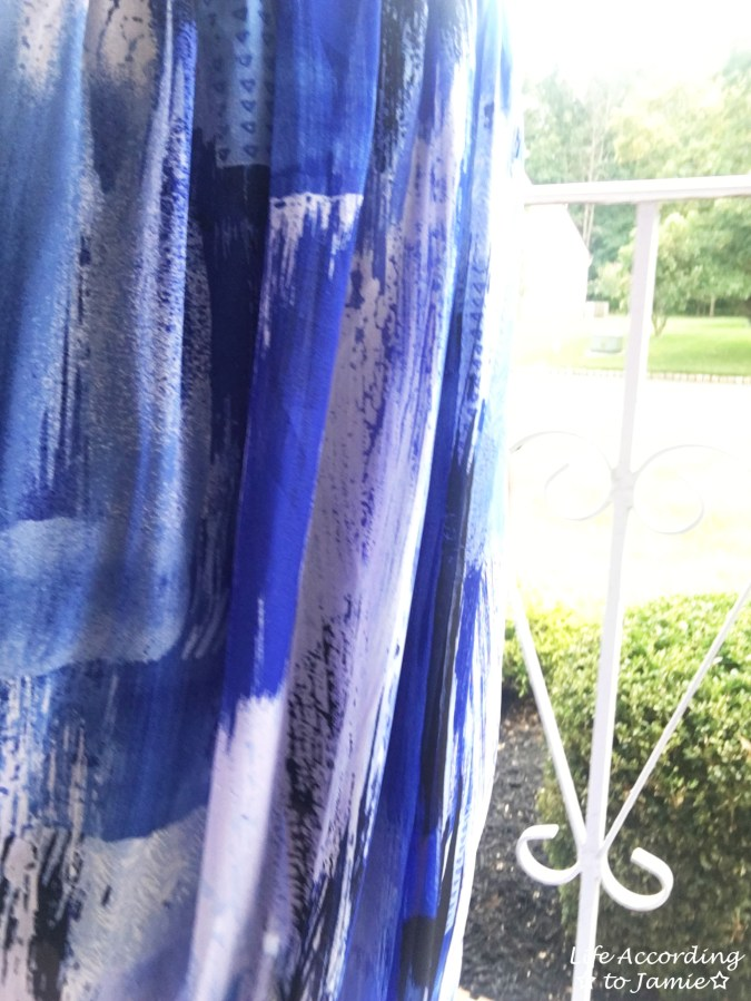Abstract Blue Maxi Dress 10