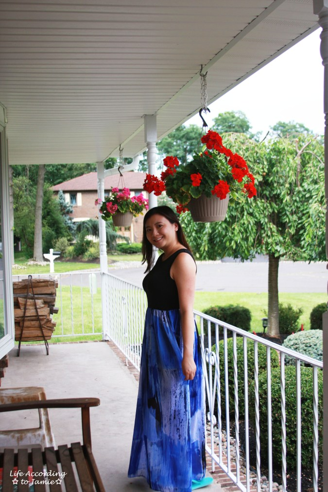 Abstract Blue Maxi Dress 7