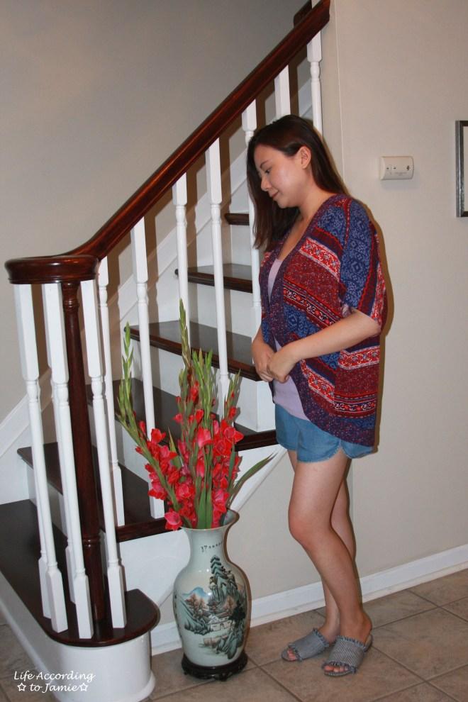 Patchwork Kimono + Tencel Shorts 3