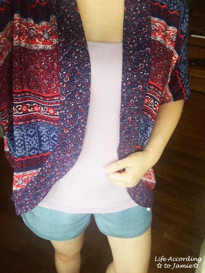 Patchwork Kimono + Tencel Shorts 6