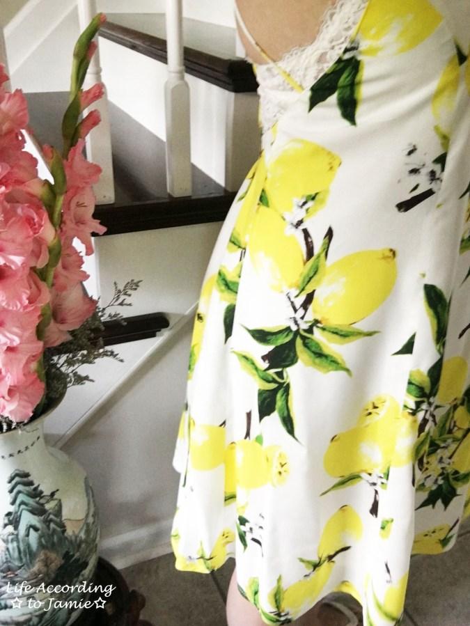 Strappy Lemon Print Dress 13