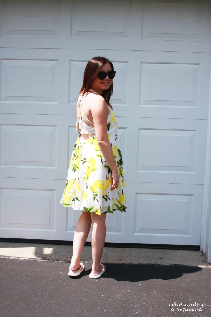 Strappy Lemon Print Dress 3