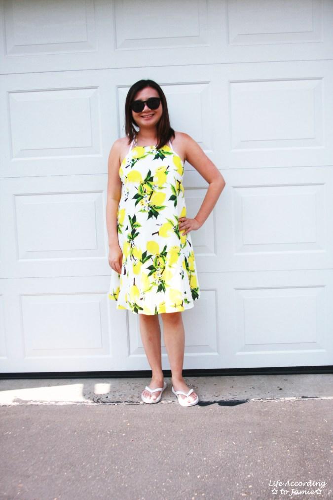 Strappy Lemon Print Dress 4
