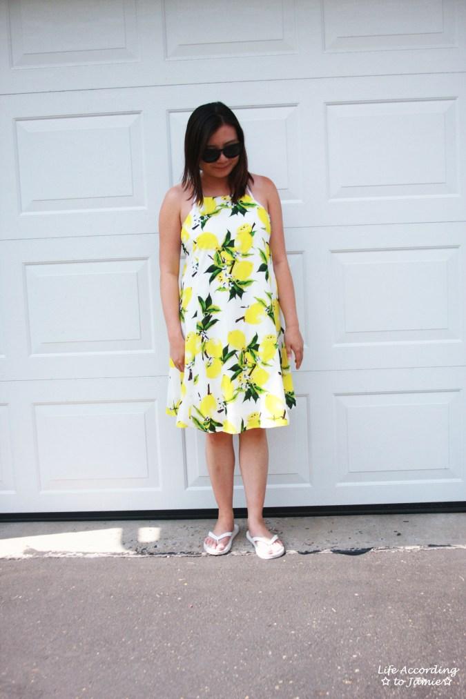 Strappy Lemon Print Dress 5