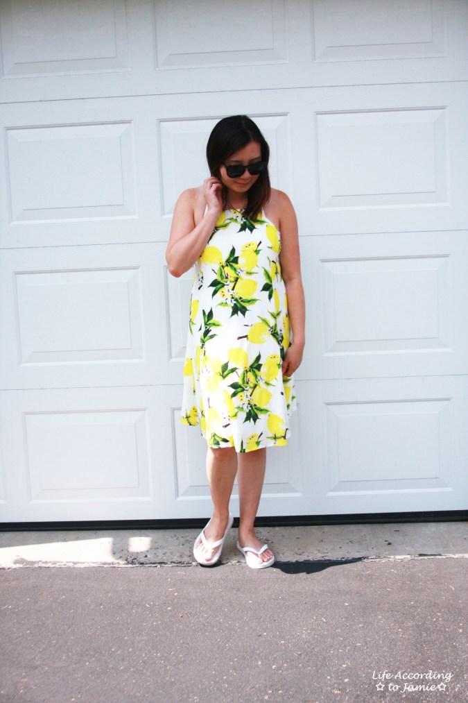 Strappy Lemon Print Dress 6