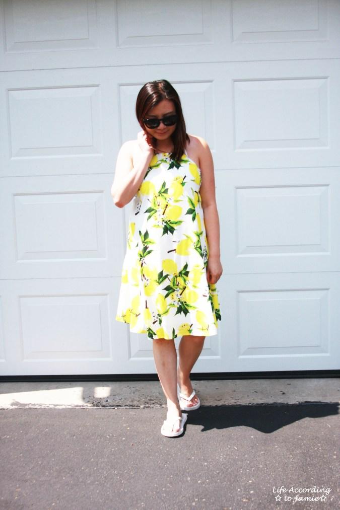 Strappy Lemon Print Dress 7