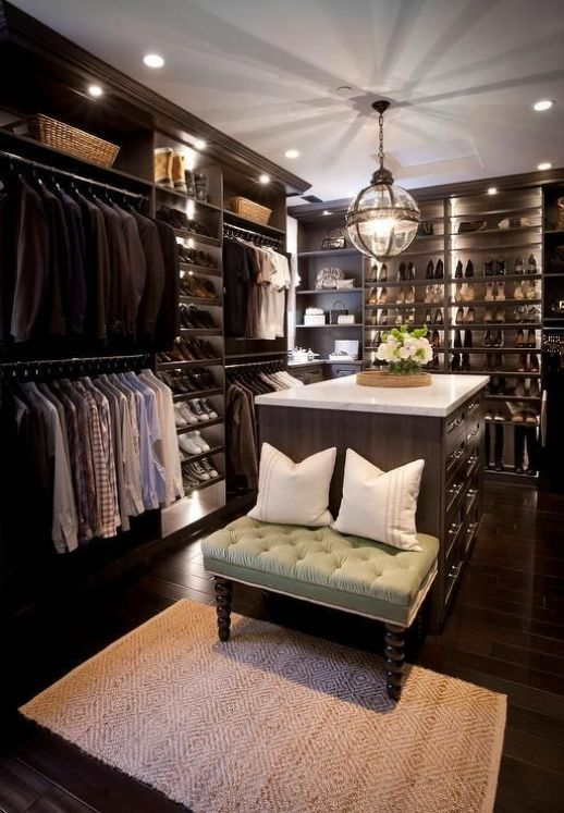 Walk in Closet - Dark Wood