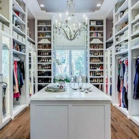 walk in closet - hardwood floors