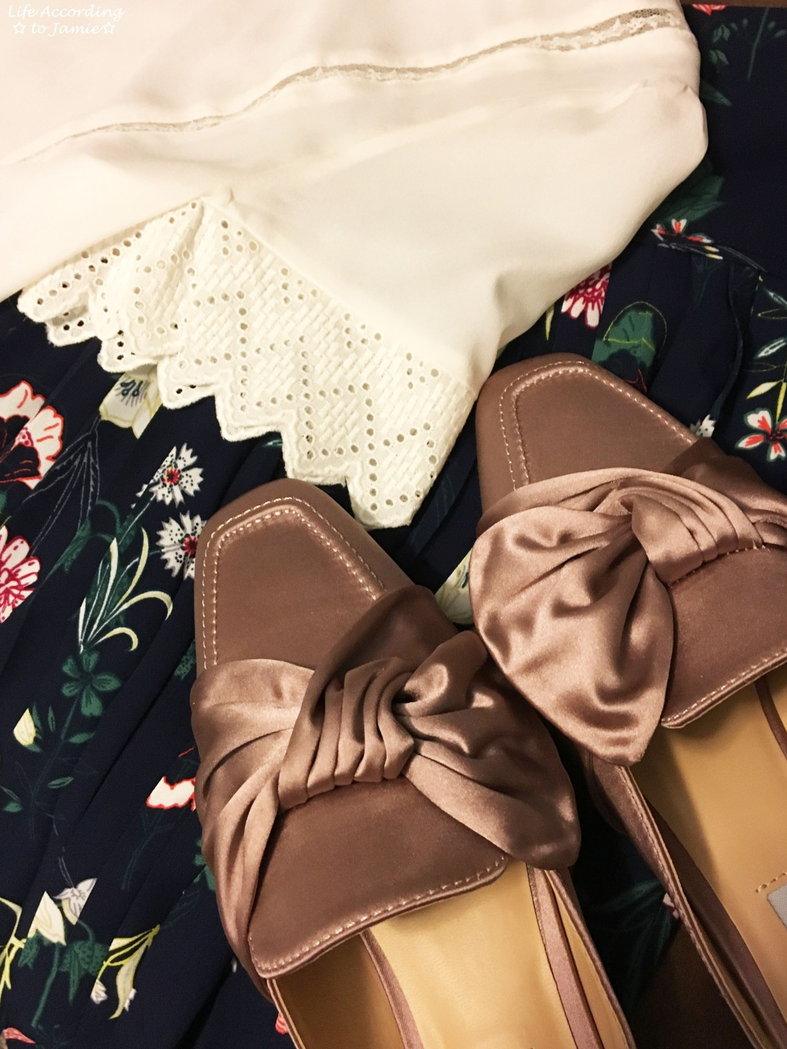 Satin Bow Mules