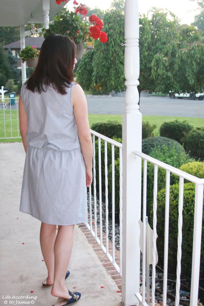 Seersucker Dress + Embroidered Mules 6