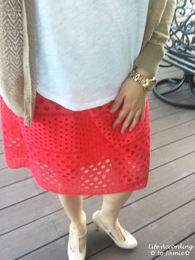 Watermelon Pop Eyelet Skirt 9