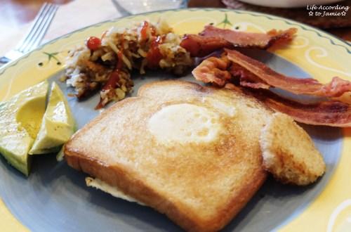 Eggs in a Basket - Breakfast