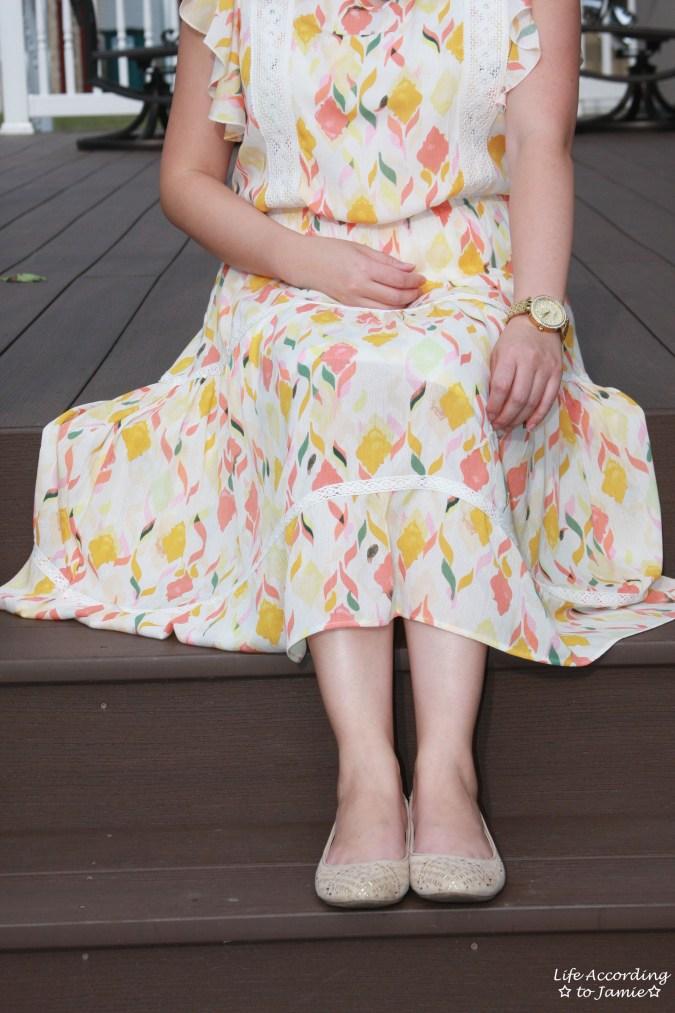Fez Geo Lace Midi Dress 13