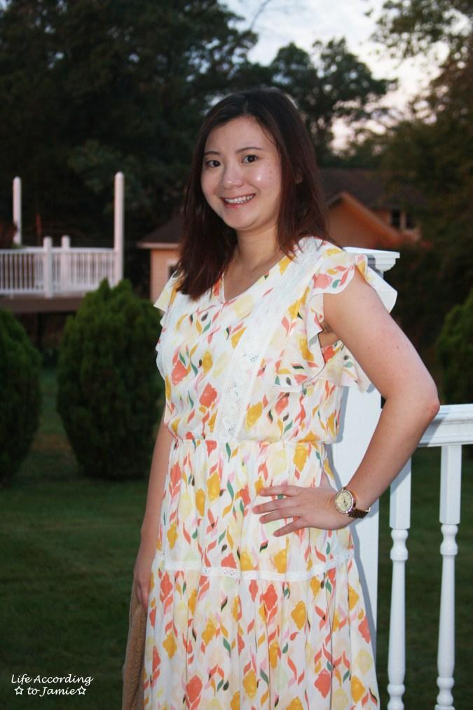 Fez Geo Lace Midi Dress 7
