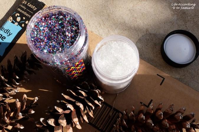 Glitter + Pine Cones 1