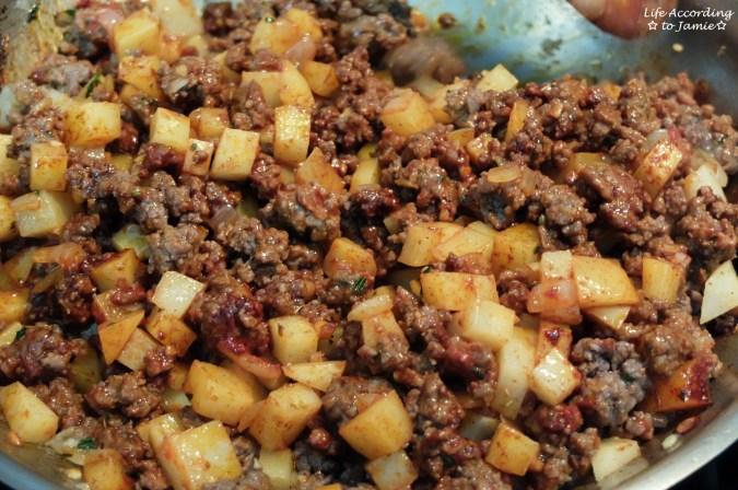 Ground Beef + Potato Empanada - Filling 1