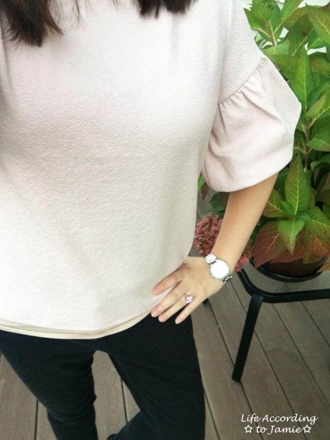 Textured Short Bell Sleeves