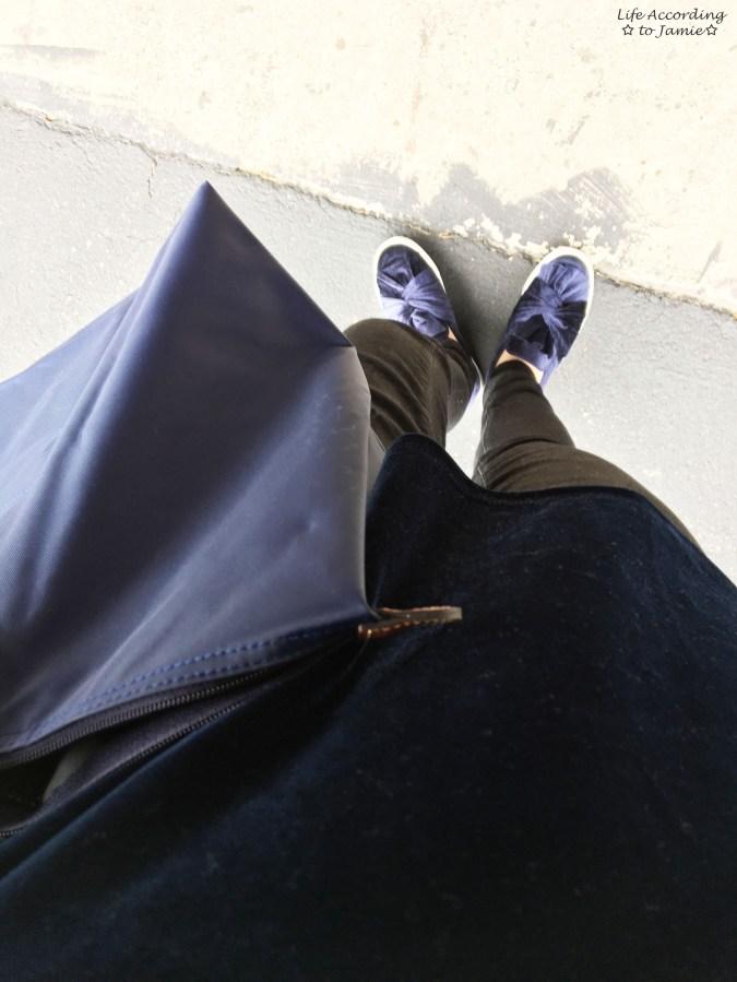 Velvet Bow Sneakers