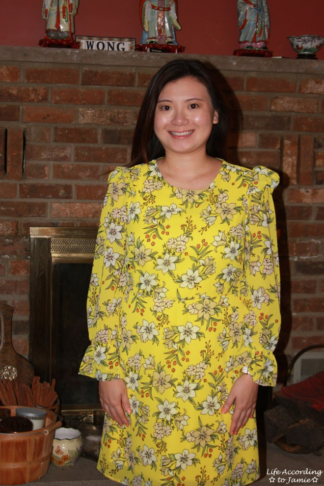 Yellow Floral Shift Dress 11