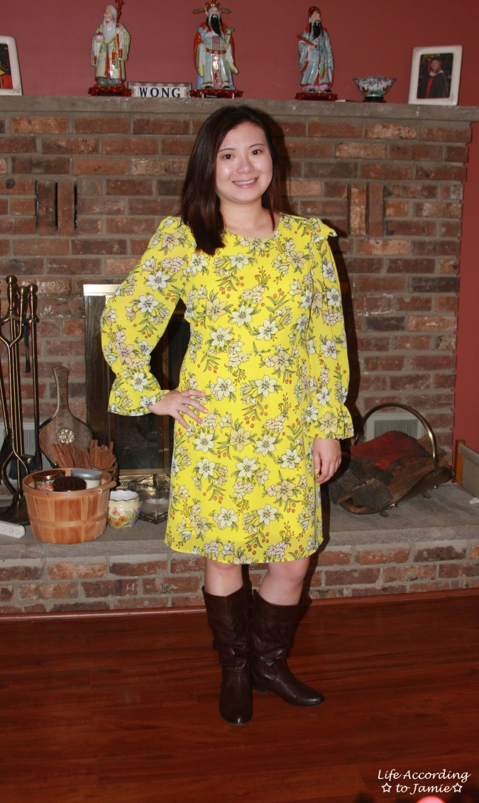 Yellow Floral Shift Dress 3