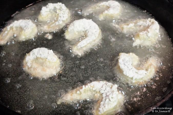 Bang Bang Shrimp - Frying