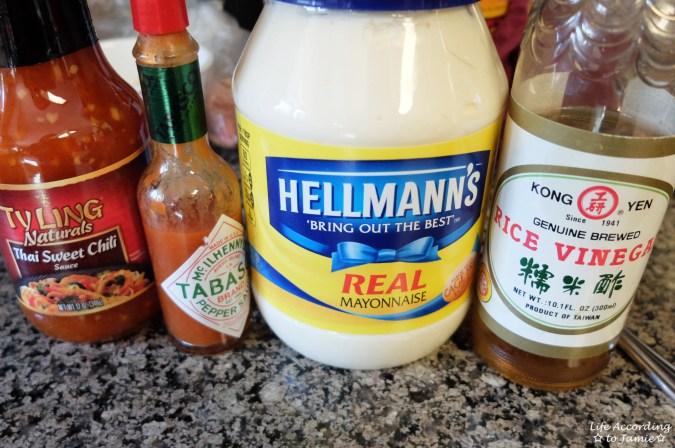 Bang Bang Shrimp - ingredients