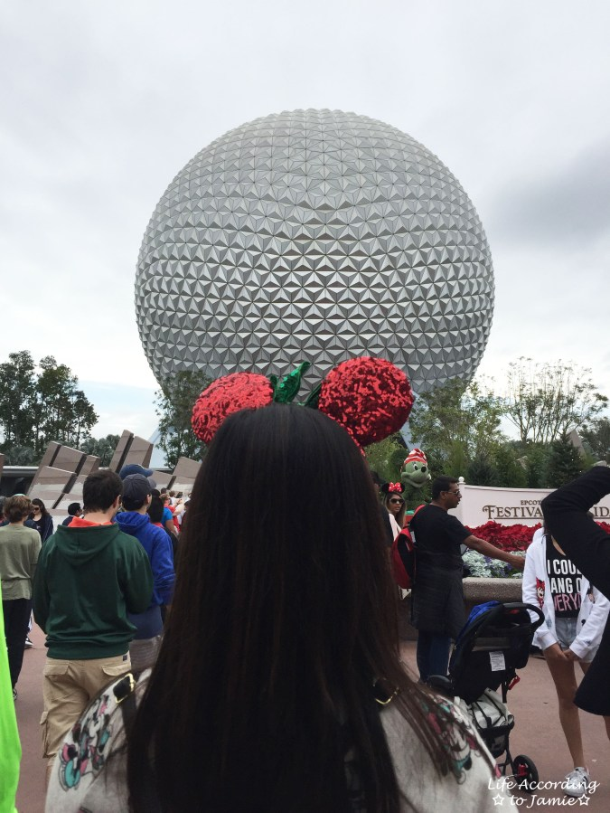 Christmas Minnie Mouse Ears - Epcot Ball