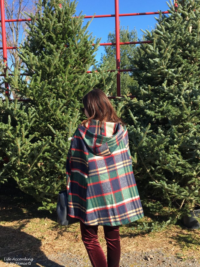 Christmas Plaid Cape Coat 1