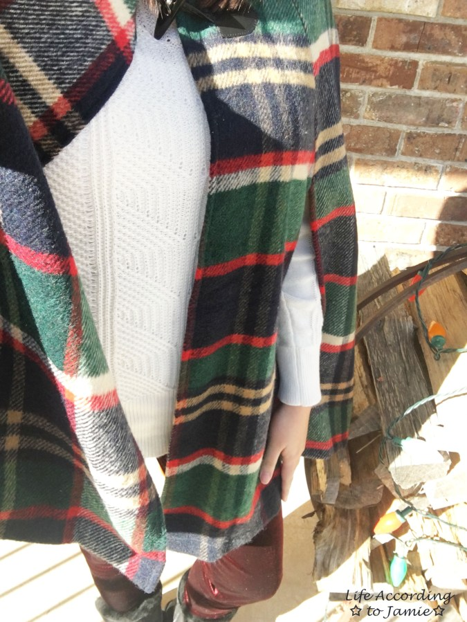 Christmas Plaid Cape Coat 10