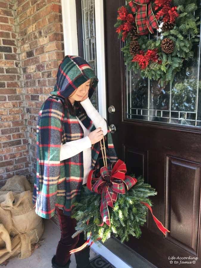 Christmas Plaid Cape Coat 8
