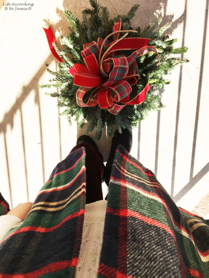 Christmas Plaid Cape Coat 9