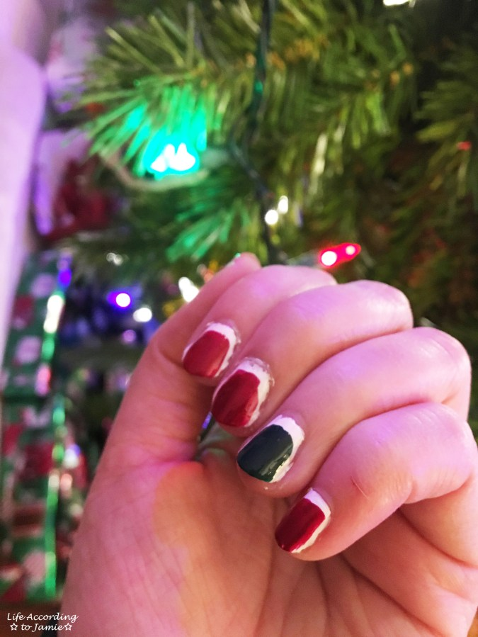 Christmas Ruffian nails 3
