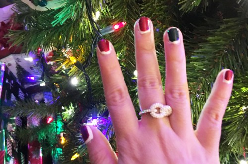 Christmas Ruffian nails