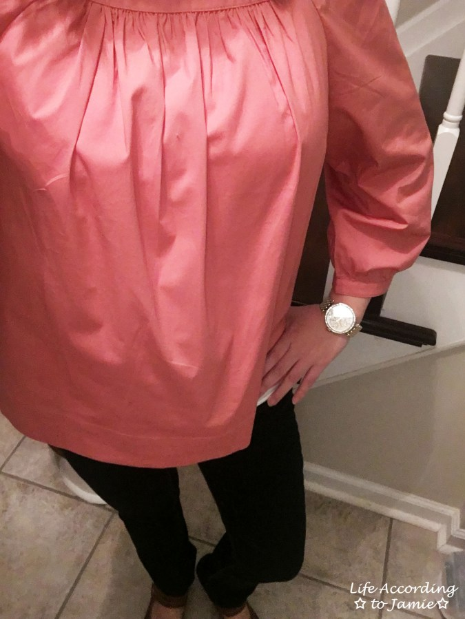 Copper Rose Peasant Top 1
