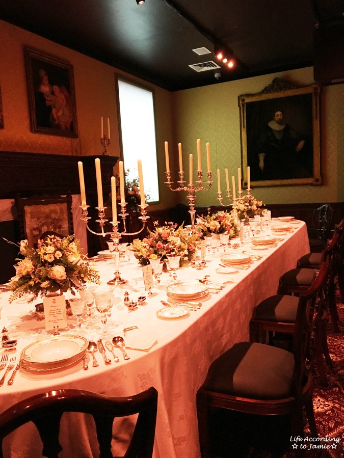 Downton Abbery - The Exhibition - Dining Room