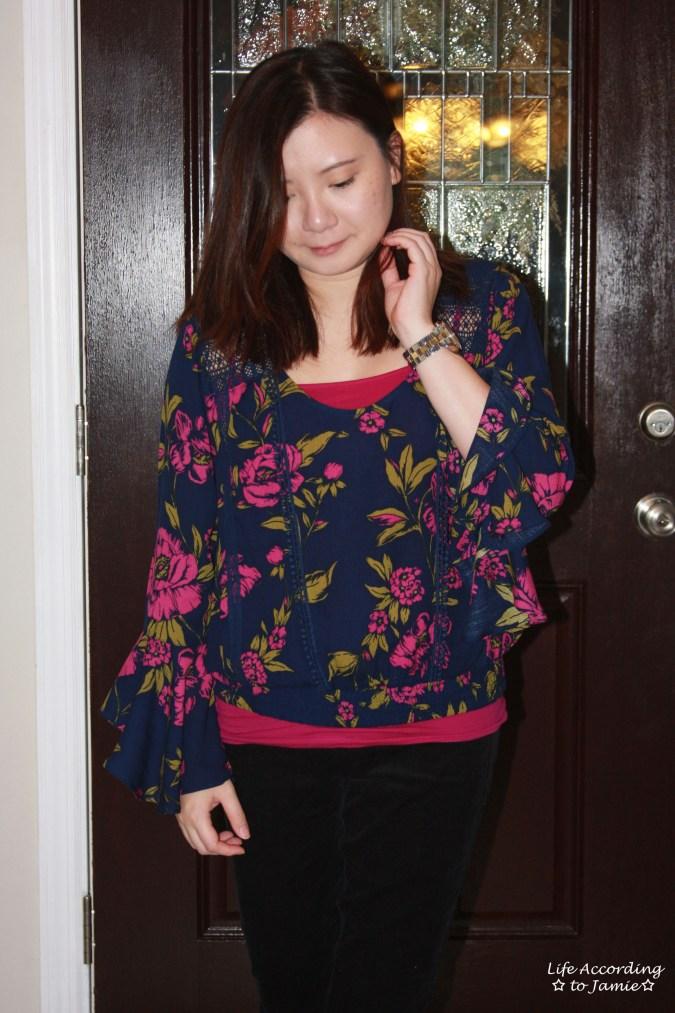 Floral Lace Smocked Hem Blouse 8