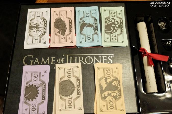 Game of Thrones Monopoly - Money
