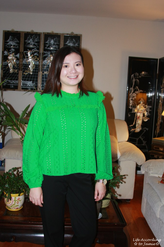 Green Broderie Lace Smock Top 9