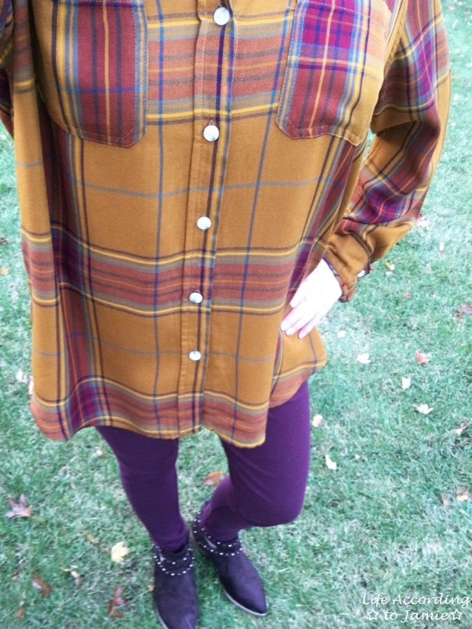 Mustard Plaid Tunic 1