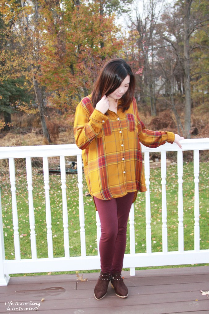 Mustard Plaid Tunic 5